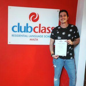 Mi diploma por cursar en Clubclass Language School